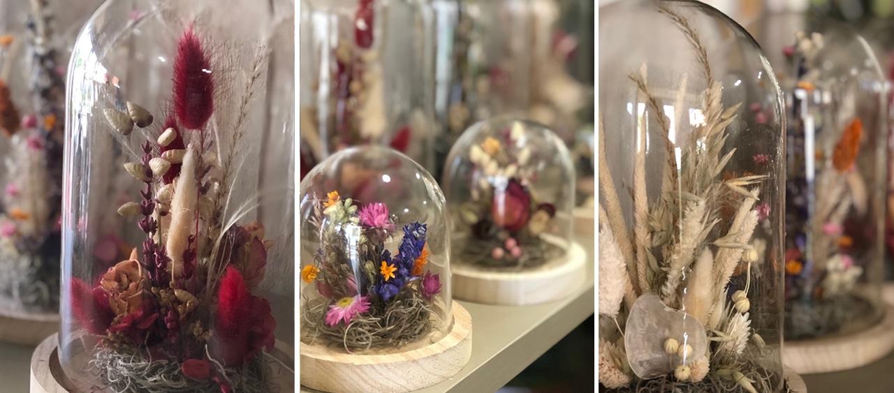 Banniere atelier cloche en fleurs sechees