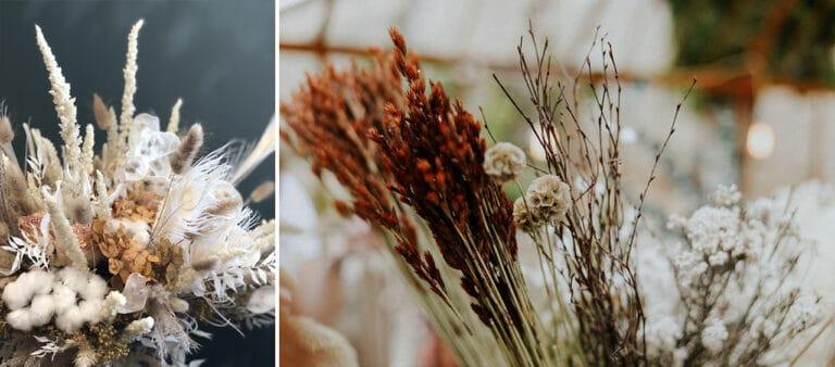 Banniere atelier bouquet fleurs sechees